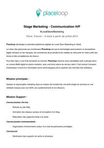 Stage Marketing - Communication H/F