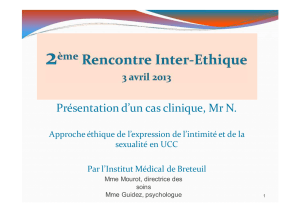 IMB, cas clinique de Mr N.