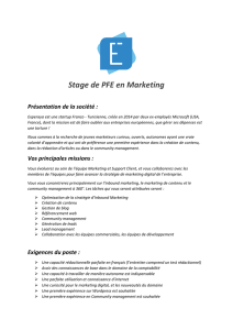 Stage de PFE en Marketing