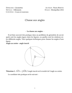 Chasse aux angles