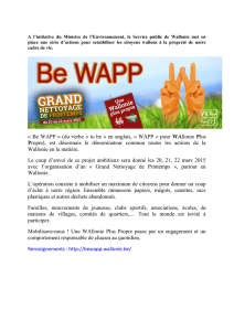 « Be WAPP » (du verbe « to be » en anglais, « WAPP » pour