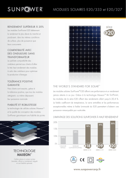 MODULES SOLAIRES E20/333 et E20/327