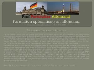 Prof Particulier Allemand Formations en allemand