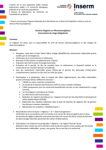 Un/Une Stagiaire en Pharmacovigilance (Convention de stage