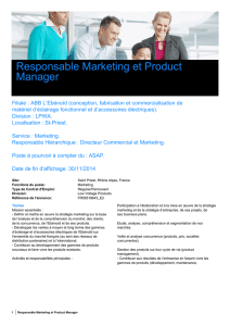 Responsable Marketing et Product Manager