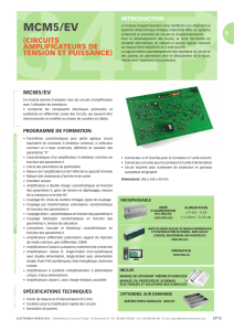 MCM5/EV - Circuits amplificateurs de tension et