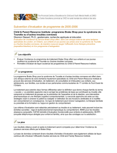Subvention d`évaluation de programme de 2005-2006