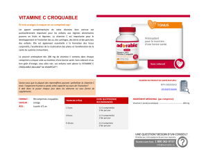 vitamine c croquable