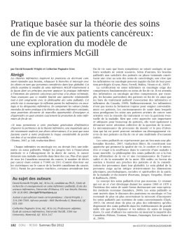 Summer 2012.indd - Canadian Oncology Nursing Journal