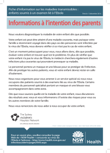Informations à l`intention des parents