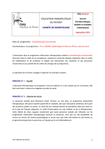 EDUCATION THERAPEUTIQUE DU PATIENT : CHARTE DE