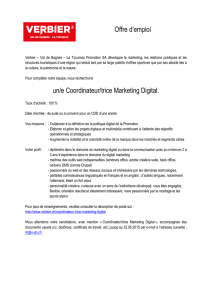 offre d`emploi Coordinateur Marketing Digital