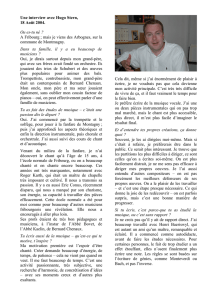 Interview de Hugo Stern, 18 Août 2004