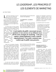 Le Leadership, Les Principles et Les Elements De Marketing