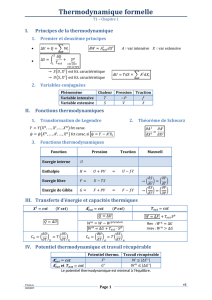 Thermodynamique formelle