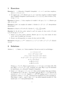 1 Exercices 2 Solutions