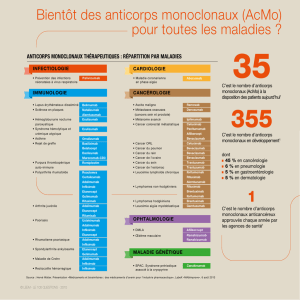 Anticorps Monoclonaux : répartition par maladies