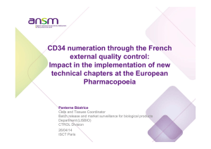 CD34 numeration through the French external quality control: Impact