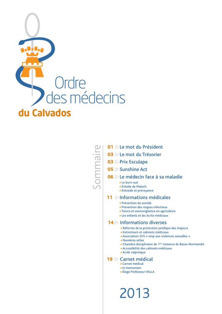 Bulletin 2013 Ordre Des Medecins