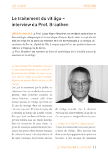 Le traitement du vitiligo – interview du Prof. Braathen