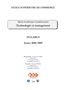 Technologie et management - moodle@insa