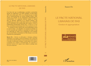 LE PACTE NATIONAL LIBANAIS DE 1943