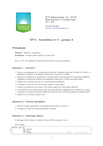 IUT Informatique 1A - FI S2 Introduction `a l - e-campus