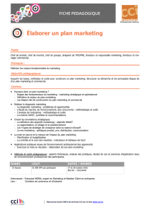 Elaborer un plan marketing (2016) - Voir le site
