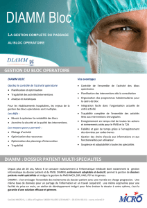 DIAMM : DOSSIER PATIENT MULTI