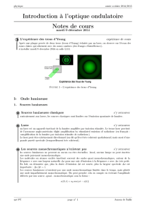 Introduction à l`optique ondulatoire Notes de cours