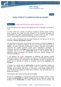 evolution et classification du vivant