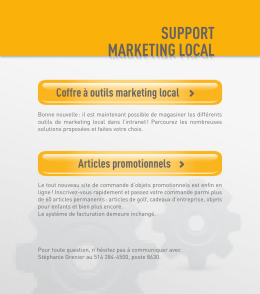support marketing local