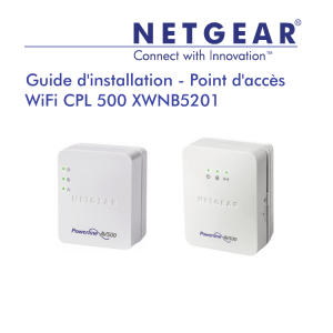 Powerline 500 WiFi Access Point XWNB5602 Installation