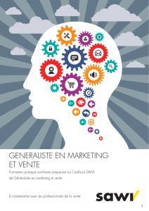 GENERALISTE EN MARKETING ET VENTE