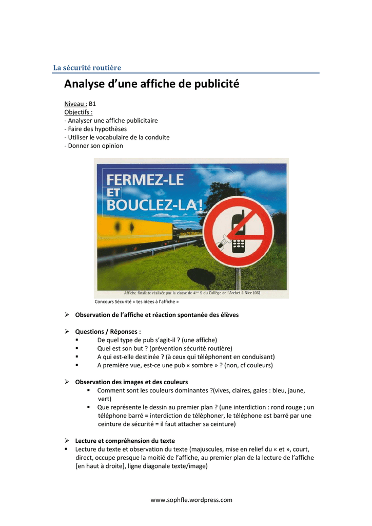 affiche rouge analyse