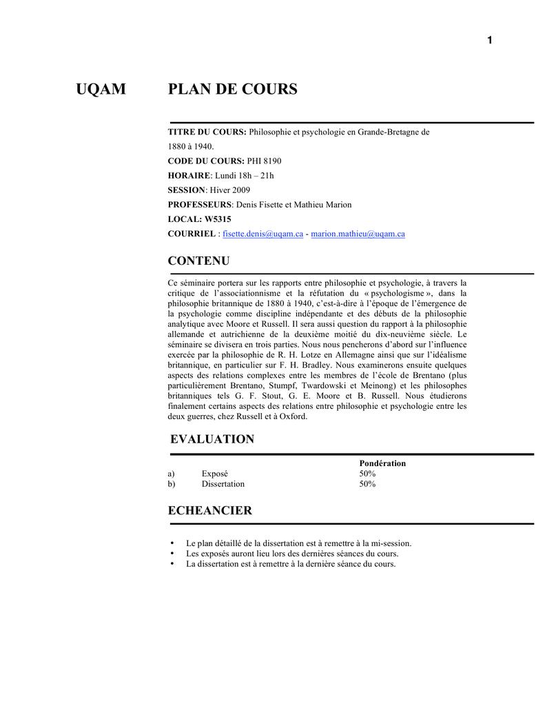 dissertation histoire uqam