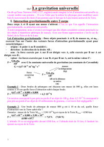 2nde T1ch7 Correction Exercices Gravitation Universelle 1
