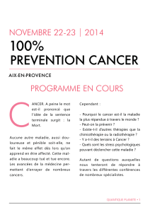 PREVENTION CANCER
