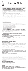 Notice - LABORATOIRES GILBERT
