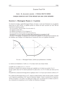 Examen Final P14 Exercice 1. Montagnes Russes (≈ 6 points)