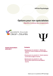 Options NS Psycho - UFR de Psychologie