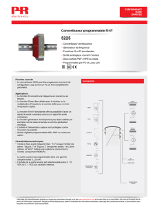 Convertisseur programmable f/If/f