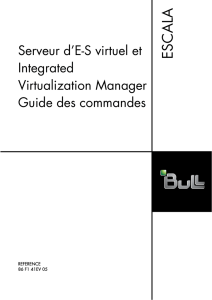 Virtual I/O Server et Integrated Virtualization Manager - Support