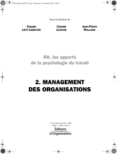 2. MANAGEMENT DES ORGANISATIONS