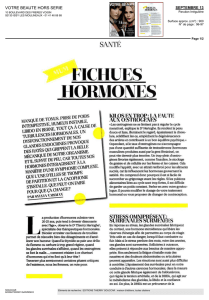FICHUES HORMONES - Thierry Souccar Editions