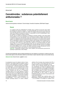 Cannabinoides : substances potentiellement antitumoraales ?