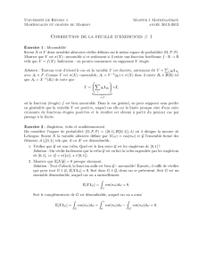 Correction de la feuille d`exercices # 1