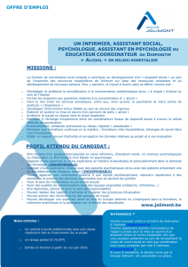 un infirmier, assistant social, psychologue, assistant en psychologie