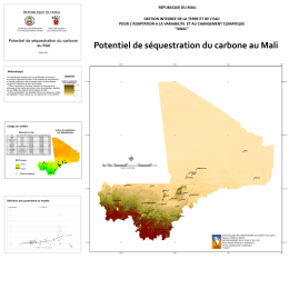 Potentiel de séquestration du carbone au Mali