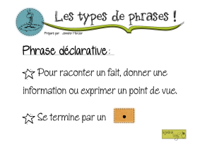 Les types de phr types de phrases es de phrases !